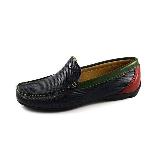 Trotters 87352-V8-MARINO - Mocasines de Cuero para Hombre Azul Size: 39 EU: Amazon.es: Zapatos y complementos