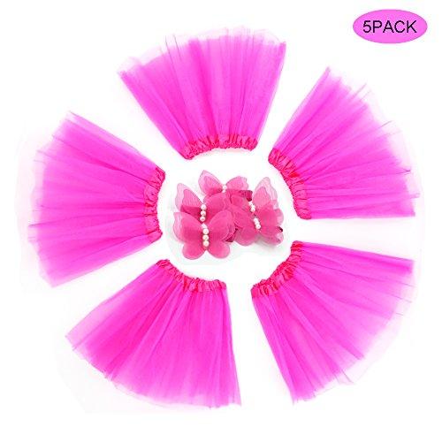 BGFKS 5 Pack Tutu Skirt for Girl Ballet Dance Costume Dress up Girl Tutus