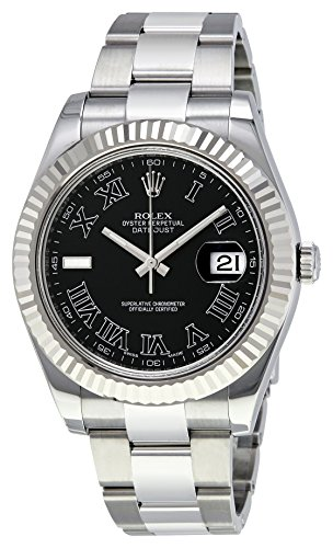 Rolex Datejust II automatic-self-wind mens Watch 116334BKRO (Certified Pre-owned)