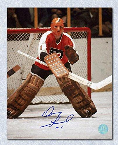 Autographed Doug Favell Photograph - 8x10 Halloween Mask - Autographed NHL Photos
