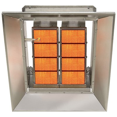 SunStar Heating Products Infrared Ceramic Heater - NG, 80,000 BTU, Model# SG8-N (Blower Controlled Thermostatically)