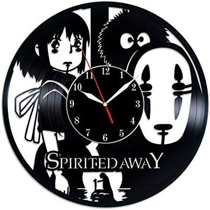 Amazon Com Tiktok Studio Spirited Away Vinyl Record Wall Clock Spirited Away Wall Art No Face Art Spirited Away Gift For Anime Lover Home Kitchen