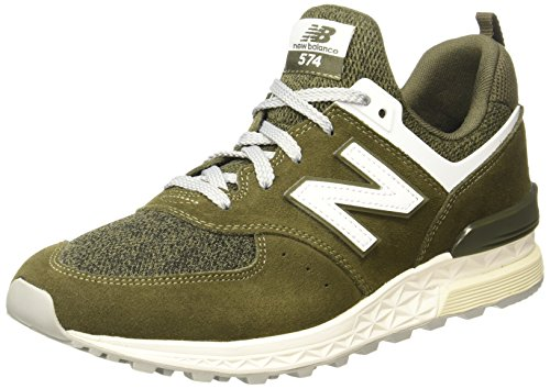 New Balance Men's MS574BM, Khaki, 9.5 D US