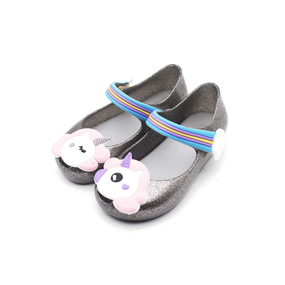 TANDEFLY Toddler Girls Mary Jane Flat Shoes White Dots Kids Sandals with a Bow Tie