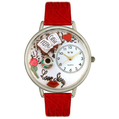 Whimsical Watches Unisex U0460003 Love Story Red Leather Watch by Whimsical Watches (Image #2)
