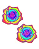 iHeartRaves Rainbow Acid Rose Pasties (Set of 2 Pasties)