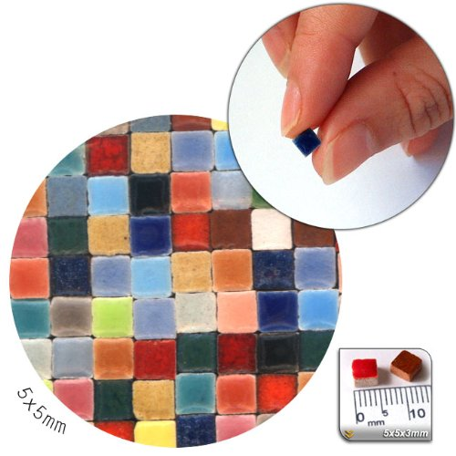 Mosaic-Minis(3/16 inch) (5x5x3mm), 1.000 pieces, Random mix all, MXAL