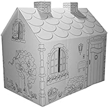 Cottage with Washable Markers Playhouse, Cardboard Playhouse