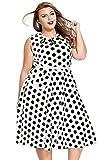 Dearlovers Women 50s Retro Short Sleeves Party Swing Dress