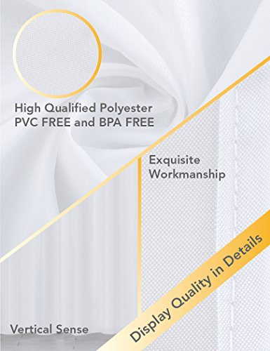 home queen Mold Resistant Shower Curtain,Anti-Mildew Heavy Duty Liner,Waterproof Bathroom Curtain Liner,72 W x 72 L Inches-White by home queen (Image #6)