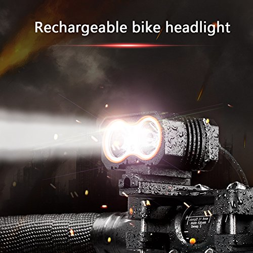 SpoLite Bike Light, Powerful Lumens Bicycles Lights,USB Rechargeable Bicycle Light, Easy Install Waterproof Bike lights & LED Safety Light, Bike headlight for Kids Men Women Road Cycling flashlight Review
