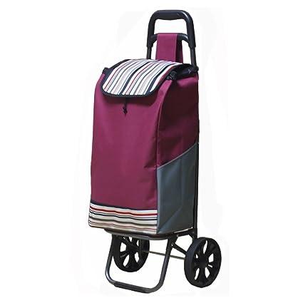 LINGZHIGAN Carrito de compras portátil Comprar verduras Carro de coche Viejo Carro tirador pequeño Carro plegable