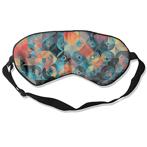 WUGOU Sleep Eye Mask Graphic Lightweight Soft Blindfold Adjustable Head Strap Eyeshade Travel Eyepatch