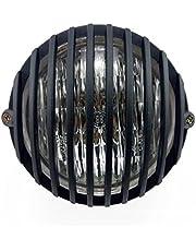 "TASWK 5"" Motorcycle Headlight Grill Prison Chopper Bobber Head Lamp"