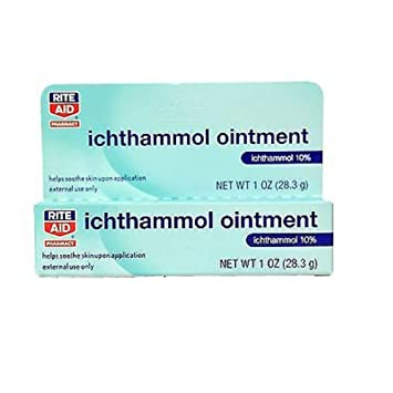 Pharmaceutical Grade** Ichthammol Ointment 20/%, 1oz Tube 28.3g Drawing Salve