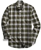 Goodthreads Men's Slim Fit Buffalo Plaid Oxford Shirt, Green Depths, Small