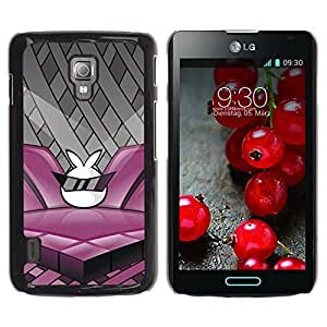 Paccase / SLIM PC / Aliminium Casa Carcasa Funda Case Cover - Design Rabbit - LG Optimus L7 II P710 / L7X P714