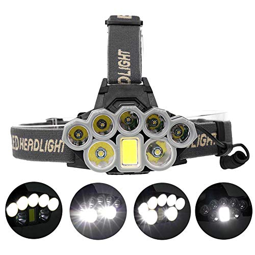 Price comparison product image Owlhouse 90000 Lumens XMLT6 8T6 LED Headlights USB Charging Headlights Variable Focal Length Long-Range Fishing Headlights Outdoor Glaring Headlights Head Lamp