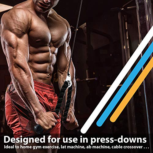 RIGERS Tricep Rope D-Handle Rotating V Shaped Press Down Bar (V Handle + Tricep Rope + V Shaped) by RIGERS FITNESS (Image #4)