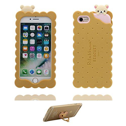 """Apple iPhone 6 Plus Coque (5.5""""), [ de matériau TPU souple ] iPhone 6s Plus étui (5.5 pouces), poussière glissement résistant aux rayures, iPhone 6 Plus Case ours, bear et ring Support de téléphone"""