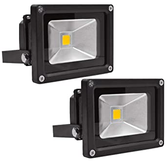 Leetop 2X 10W 20W 30W Negro Blanco Cálido Foco Proyector LED ...