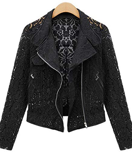 Jacket Jacket Brand Full Casual Color Lace Outwear Autumn Zipper Lace Leisure Comradesn Short Metal Image Jacket Biker ABqSxE6Iw
