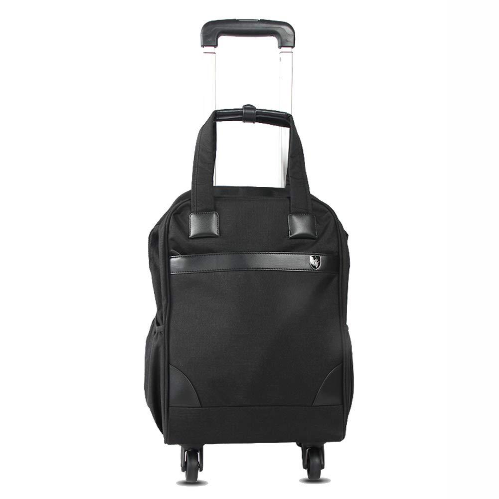 QING MEI 軽い車輪付きのショッピングカートトロリーバッグ折りたたみ式の食料品の買い物カート学生の小さなプルボックス32x20x100cm A+ (色 : 黒) B07K3WHWQN 黒