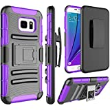 Galaxy S7 Edge Case, Samsung S7 Edge Holsters Clips Case, Jeylly [Belt Clip] Built-in Kickstand Heavy Duty Full Body Shock Absorbing Hard Rugged Case Shield for Samsung Galaxy S7 Edge G935 - Purple