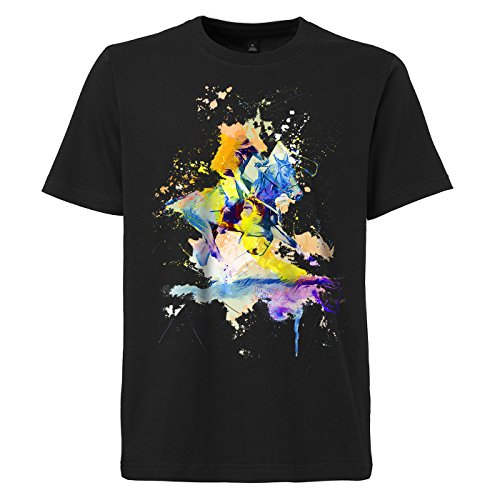 Polo_I schwarzes modernes Herren T-Shirt mit stylischen Aufdruck