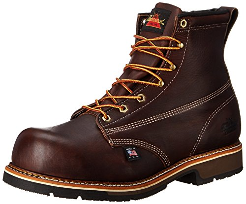 Thorogood Men's American Heritage 6 Inch Safety Toe Lace-up Boot,Brown,10.5 D US by Thorogood