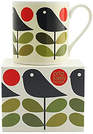 Orla Kiely Early Bird Dark Navy China Mug 400 ml