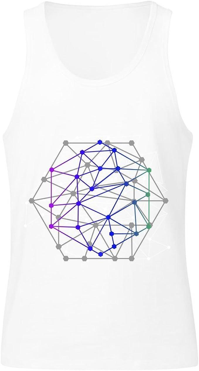 IDcommerce Geometrical Shape Made of Lines and Dotts Mens Tank Top Shirt