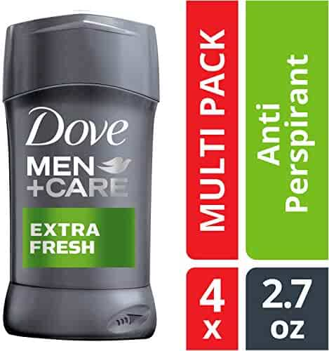 Dove Men+Care Antiperspirant Deodorant Stick, Extra Fresh, 2.7 oz, 4 count