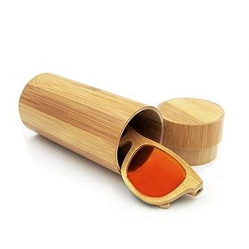 Dream-D Estuche de Gafas de Madera de bambú Hecho a Mano de ...