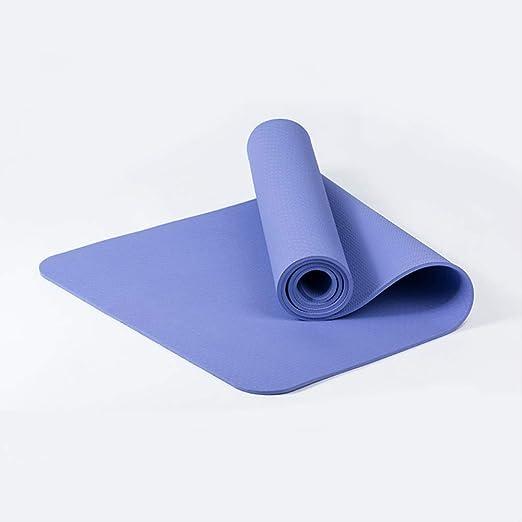 zfq Yoga Mat Monocromo TPE Yoga Pad, 6mm Principiante ...