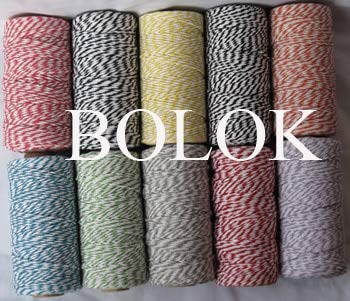 FINCOS 8pcs/lot Bakers Twine,32 Kinds Color Choose Twisted Cotton Baker Twine Cotton Cords, Cotton Twine (110yards/spool)