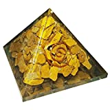 #5: Yellow Jasper Stone Pyramid Healing Crystals Reiki Organite Pyramid Reiki Spritual Gift With Red Gift Pouch