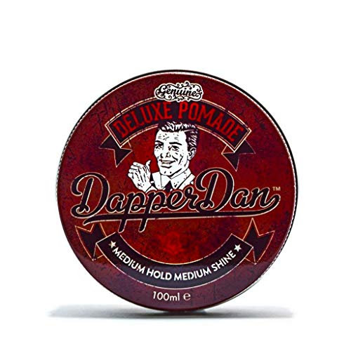 Deluxe Pomade By Dapper Dan, Medium Hold Medium Shine, No Greasiness Or Flakiness, Citrus & Vanilla Fragrance 100ml