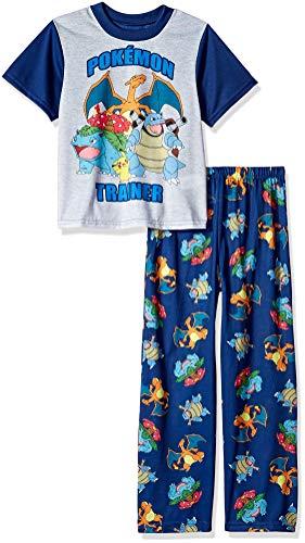 Pokemon Boys' Big 2-Piece Pajama Set, Trainer Status, 8