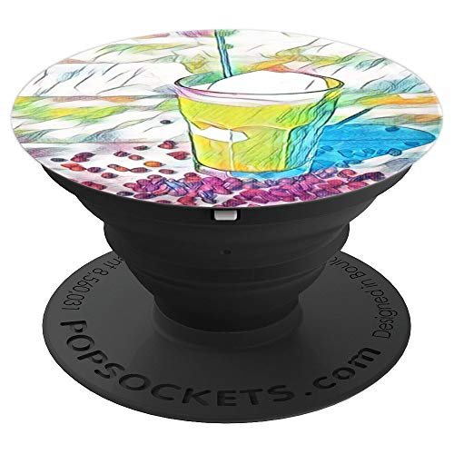 Digitally Enhanced Frappe Coffee Photo - PopSockets Grip and Stand for Phones and Tablets