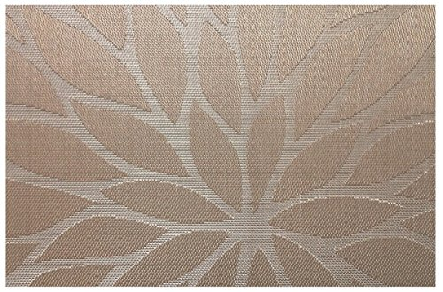 Tennove Placemats set of 6, Woven Vinyl Table Mats PVC Placemats for Kitchen Dining Table Decoration (Flower-Brown) by Tennove (Image #1)