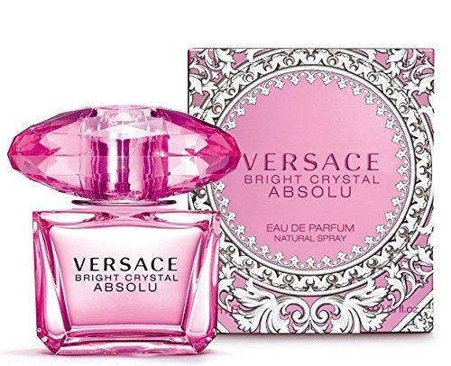 VERSACE Perfume Bright Crystal Absolu New Eau de Parfum Spray, 3 Fluid Ounce