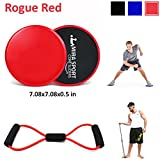 Gliding Discs Exercise Sliders Core Sliders Workout Sliders Fitness Sliders Ab Sliders Ab Workout Abdominal Exercise Equipment Full Body Workout Equipments Work on All Surfaces Set of 1 For Sale