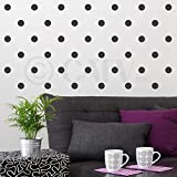 2x2 Set of 180 Polka Dot Circles Vinyl Lettering Wall Pattern Decal Stickers (Charcoal Grey)