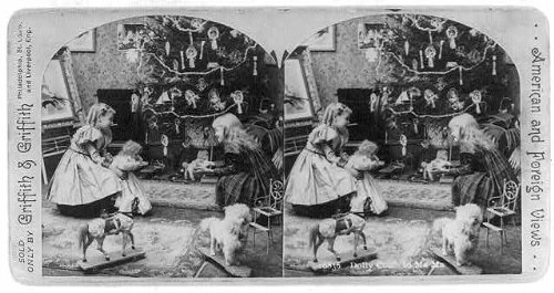 Photo: Dolly come to mama,c1897,2 girls with doll,toys,Christmas - Dolly Mama Designs