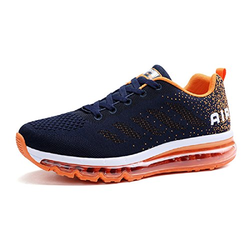 Scarpe Ginnastica Et Uomo Running Bleu Orange da Scarpe Traspirante KISCHERS Sneakers Sportive Donna Corsa Xq004