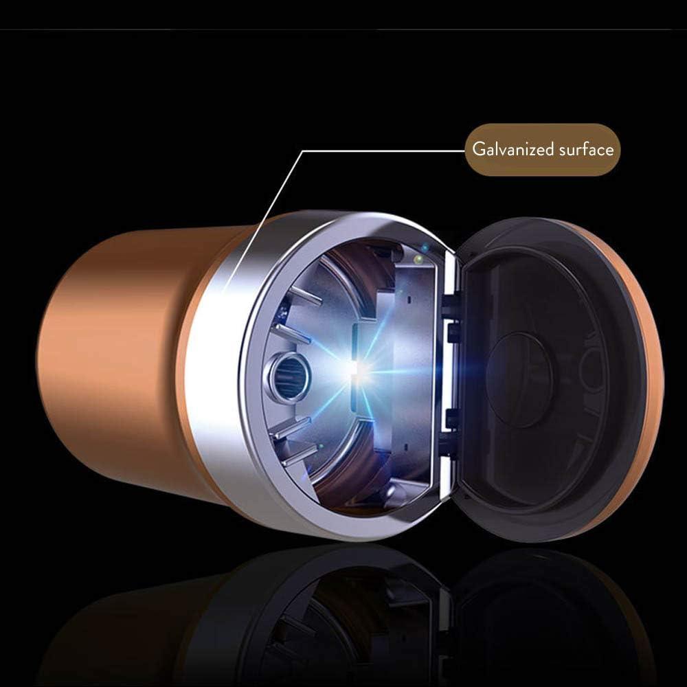 Meet World Auto-Aschenbecher Mit Deckeln Tragbarer Aschenbecher Rauchfrei Cup Zigarre M/üllbeh/älter Mit Deckel Und Blaues LED-Licht,Blau
