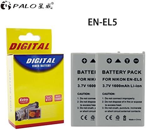 PALO 2-Pack de batería EN-EL5 para Nikon Coolpix P80, P90, P100 ...