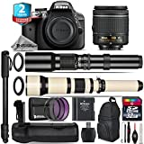 Holiday Saving Bundle for D3300 DSLR Camera + 650-1300mm Telephoto Lens + AF-P 18-55mm + 500mm Telephoto Lens + Battery Grip + 2yr Extended Warranty + 32GB Class 10 Memory - International Version
