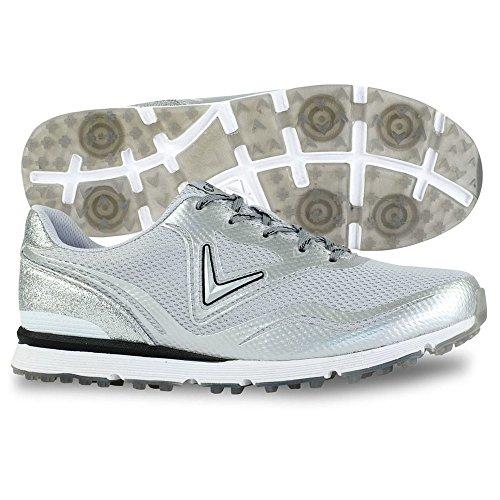 Callaway Women's Solaire Golf Shoe, Light Grey, 8 B B US
